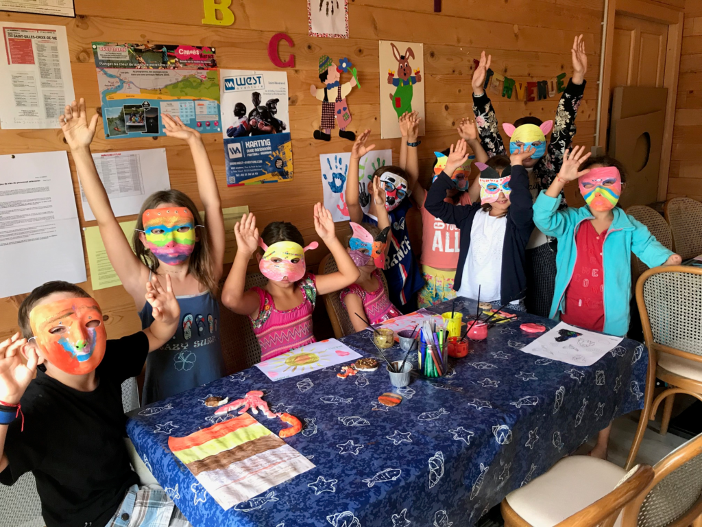 confection de masques club enfants